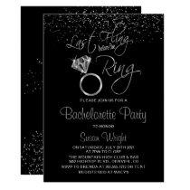 Last Fling Before the Ring Bachelorette - Silver Invitation