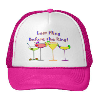 Last Fling Before The Ring Mesh Hats