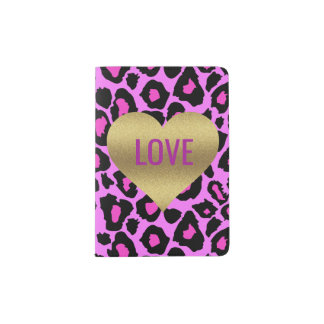 Last Fling Before The Ring Leopard Passport Holder