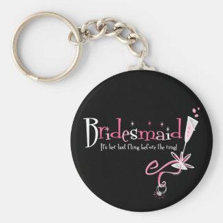 Last Fling Bridesmaid Keychain