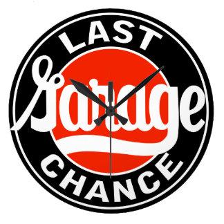 Last Garage Chance vintage sign clock