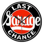 Last Garage Chance vintage sign clock Wall Clocks