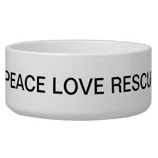 Last Hope K9 Rescue Dog Bowl Peace Love Rescue