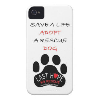 Last Hope K9 Rescue iPhone 4 Save A Life Adopt Case-Mate iPhone 4 Case