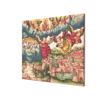 Last Judgement, from the Luther Bible, c.1530 Canvas Print