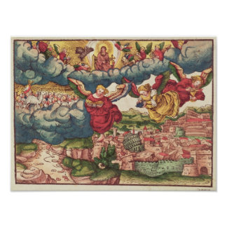 Last Judgement, from the Luther Bible, c.1530 Poster