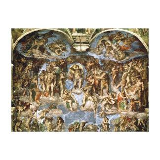 Last Judgement, from the Sistine Chapel, 1538-41 Canvas Print
