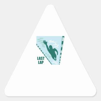 Last Lap Triangle Sticker