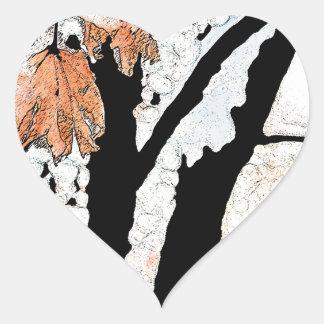 Last Leaf Heart Sticker