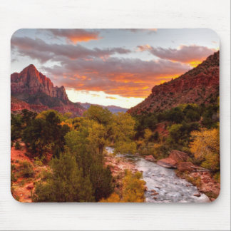 Last Light On The Watchman Mouse Pad