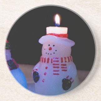 Last Lit Snowman Coaster