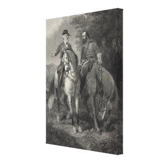 Last Meeting of Robert E. Lee & Stonewall Jackson Canvas Print