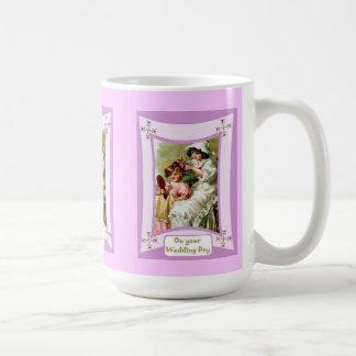 Last minute touches coffee mug