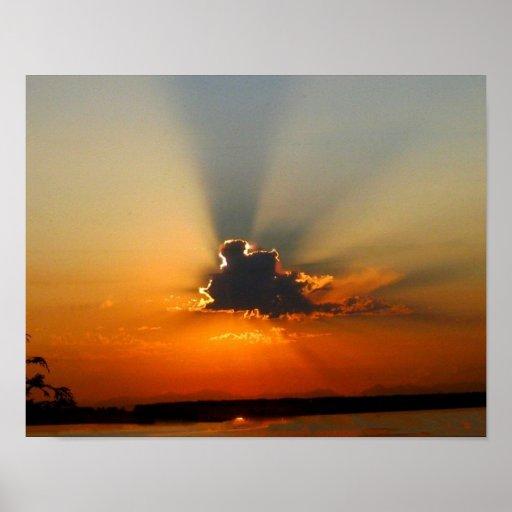 Last Moment of Sunrise Poster