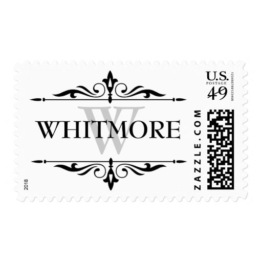 Last name custom postage stamps zazzle for Personalized last name university shirts