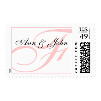 Last Name Initial F plus Names White Pink Stamp