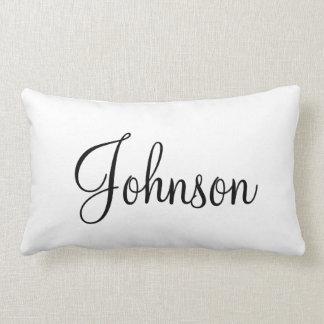 Last name pillow