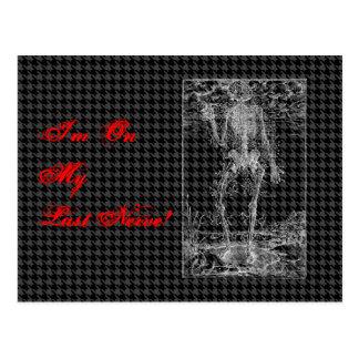 Last Nerve - Halloween Skeleton Postcard