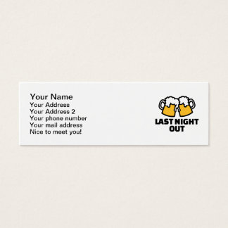 Last night out beer mini business card