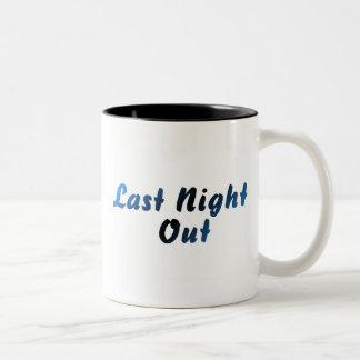 Last Night Out (blue) Two-Tone Coffee Mug