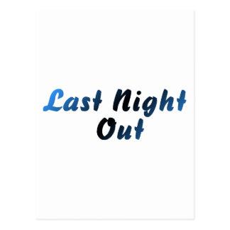 Last Night Out (groom) Postcard