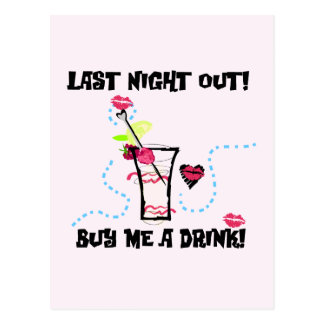 Last Night Out Tshirts and Gifts Postcards