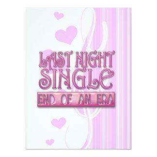 last night single bachelorette wedding party funny personalized invite
