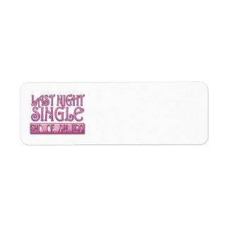 last night single bachelorette wedding party funny labels