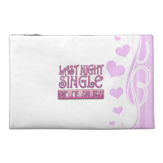 last night single bachelorette wedding party funny travel accessory bag