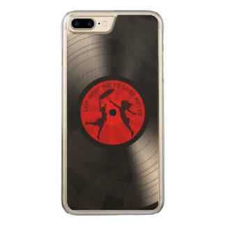 Last Night The DJ Saved My Life Vinyl Record Black Carved iPhone 8 Plus/7 Plus Case