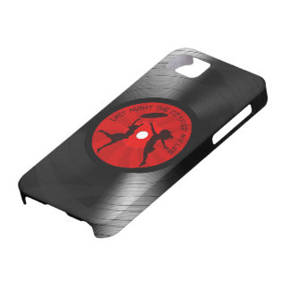Last Night The DJ Saved My Life Vinyl Record Black iPhone 5 Cover