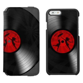 Last Night The DJ Saved My Life Vinyl Record Black iPhone 6/6s Wallet Case