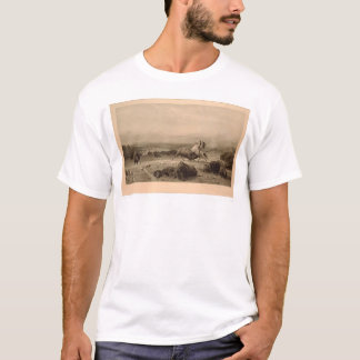 Last of the Buffalo Bierstadt (0137A) - Restored T-Shirt