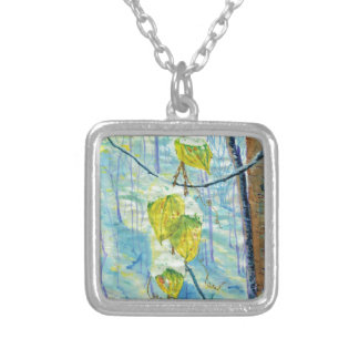 Last of the Leaves Silver Plated Necklace