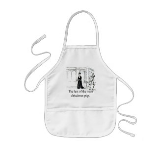 Last Of The Male Chivalrous Pigs-Apron Kids' Apron