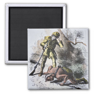 'Last of the Mohicans' by James Fenimore Cooper (1 2 Inch Square Magnet