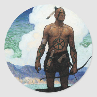 Last of the Mohicans Classic Round Sticker
