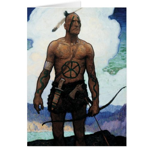 Last of the Mohicans Greeting Card