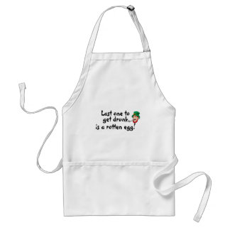 Last One Drunk Is A Rotten Egg Adult Apron