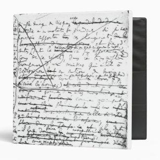 Last page of 'A la Recherche du Temps Perdu' 3 Ring Binder