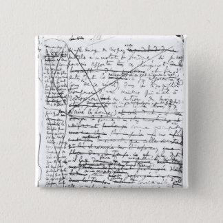 Last page of 'A la Recherche du Temps Perdu' Button