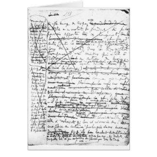 Last page of 'A la Recherche du Temps Perdu' Cards
