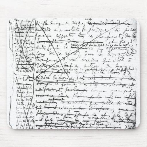 Last page of 'A la Recherche du Temps Perdu' Mousepad