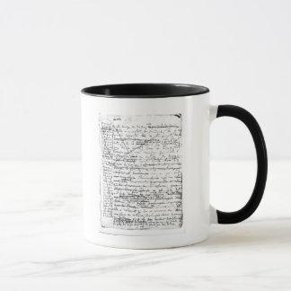 Last page of 'A la Recherche du Temps Perdu' Mug