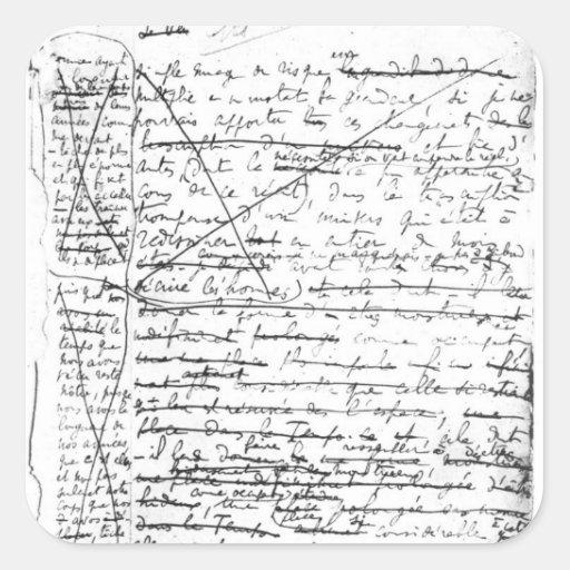 Last page of 'A la Recherche du Temps Perdu' Square Sticker