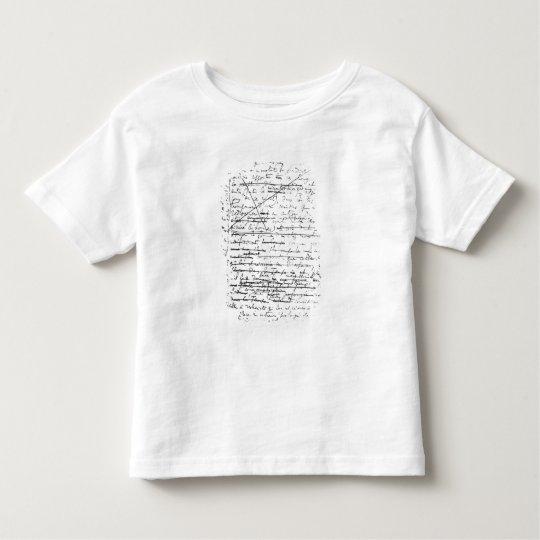 Last page of 'A la Recherche du Temps Perdu' Toddler T-shirt