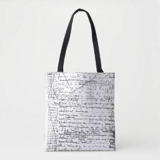 Last page of 'A la Recherche du Temps Perdu' Tote Bag