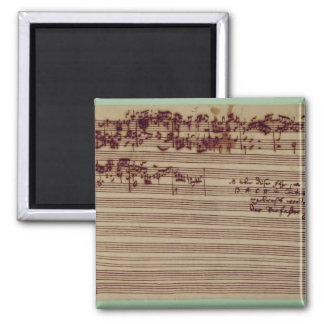 Last page of The Art of Fugue, 1740s 2 Inch Square Magnet