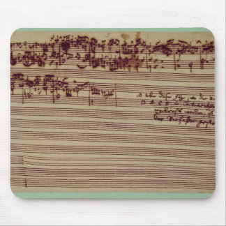 Last page of The Art of Fugue, 1740s Mouse Pad