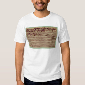 Last page of The Art of Fugue, 1740s Tee Shirts